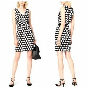 INC XL Black & White Bold Polka Dot Sheath Dress